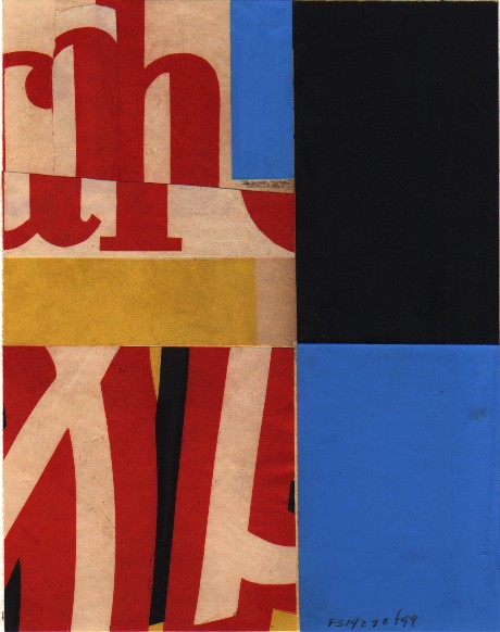 Fusion Series #1427 - 1999 - collage on paper - 10x8 inches