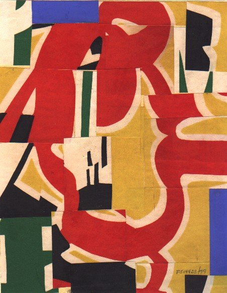 Fusion Series #1442 - 1999 - collage on paper - 10x8 inches